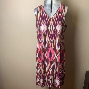 Athleta Santorini Dress 3.0 Pink Ikat XL